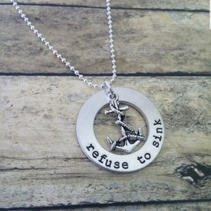 Jewelry - Refuse to sink anchor necklace